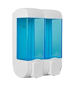 Dispensador de jabón WOLOSZ ABS Dispensador de jabón de pared de plástico Shampoo Dispensador de jabón