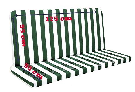 Vendita Cuscini Per Dondolo.Cuscino Per Dondolo 4 Posti 170 Cm Bianco Verde