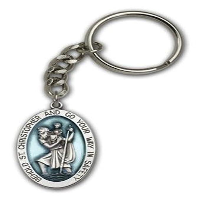 Amazon.com: Medalla de San Cristóbal llavero Santo Patrón de ...