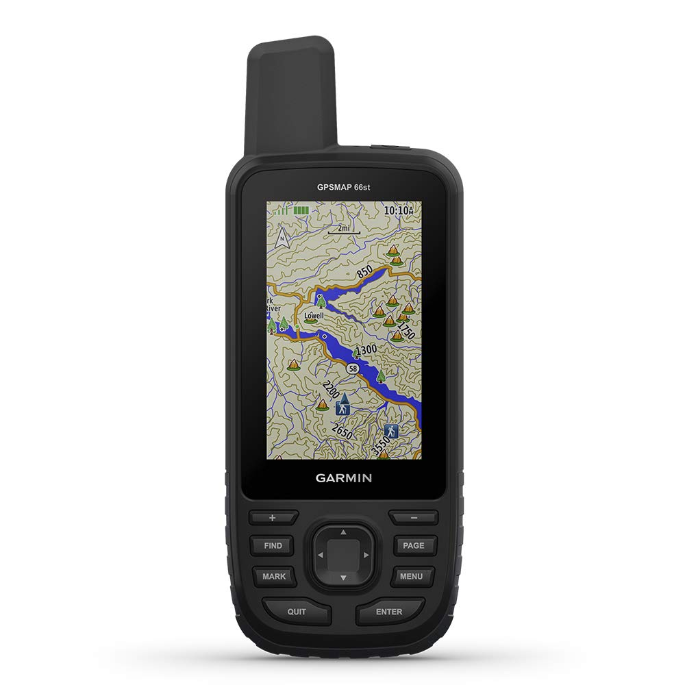 Garmin GPSMAP 66st, Handheld Hiking GPS with 3'' Color Display, Topo Maps and GPS/GLONASS/Galileo Support by Garmin