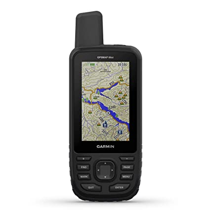 "Garmin GPSMAP 66st, Handheld Hiking GPS with 3"" Color Display, TOPO Maps  and GPS/GLONASS/Galileo Support"