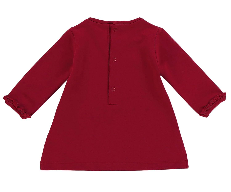 Mayoral M/ädchen Winter Kleid in rot mit Pinguin-Druck