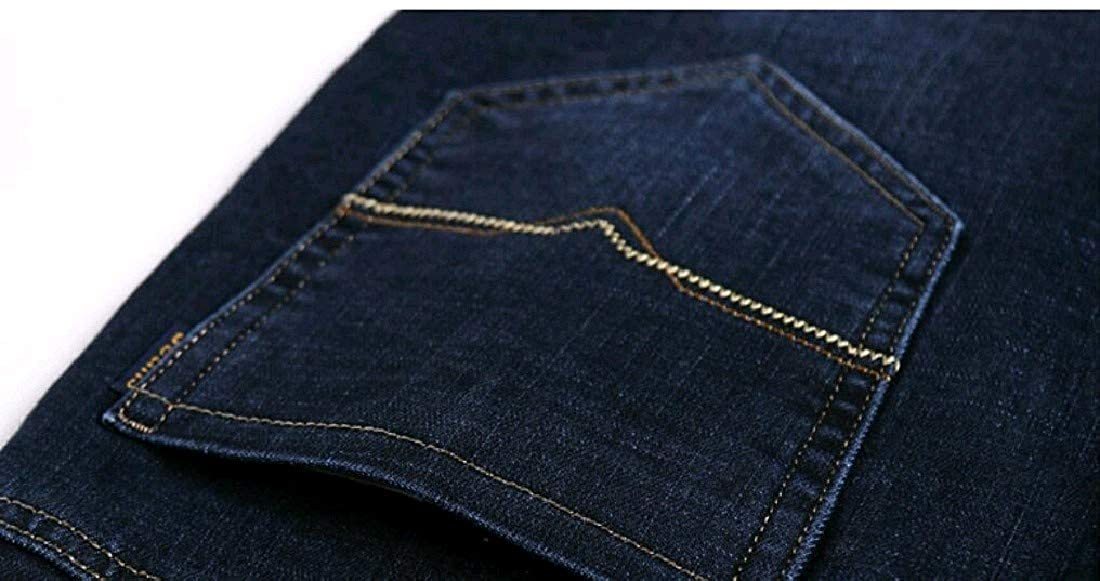 Winwinus Mens Denim Washed Pocket Trim Straight Harem Casual Pants