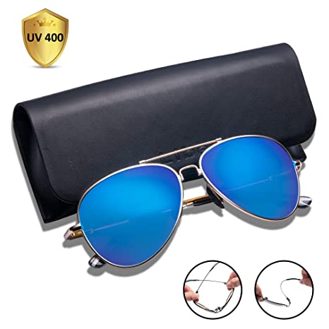297d9c4bb2e TAIQX Polarized Sunglasses for Women Men with Driving Sunglasses Classic  Aviator Sunglasses with Spring Arms