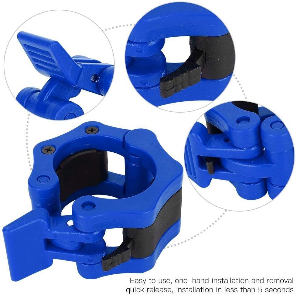 blau Heitune 2ST Kunststoff Safe Lock Collars Clip Buckle Gewichtheben Langhantel Hantel Eilsperrung Klemmschnalle 50mm Innendurchmesser