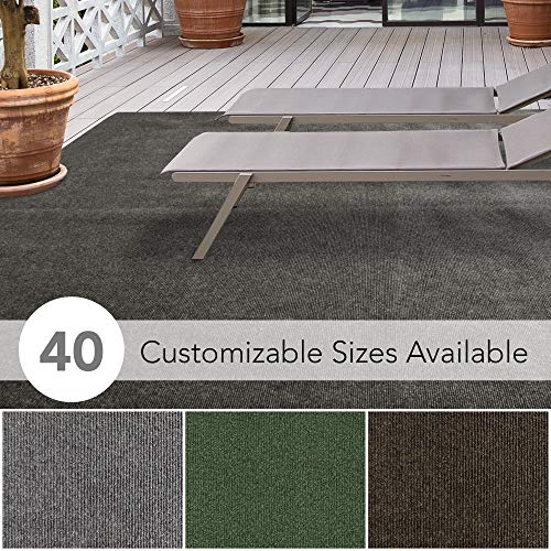 iCustomRug Affordable Indoor/Outdoor Carpet with Marine Backing, Many Carpet Flooring for Patio, Porch, Deck, Boat, Basement or Garage (Outdoor For Decks Carpet Best)