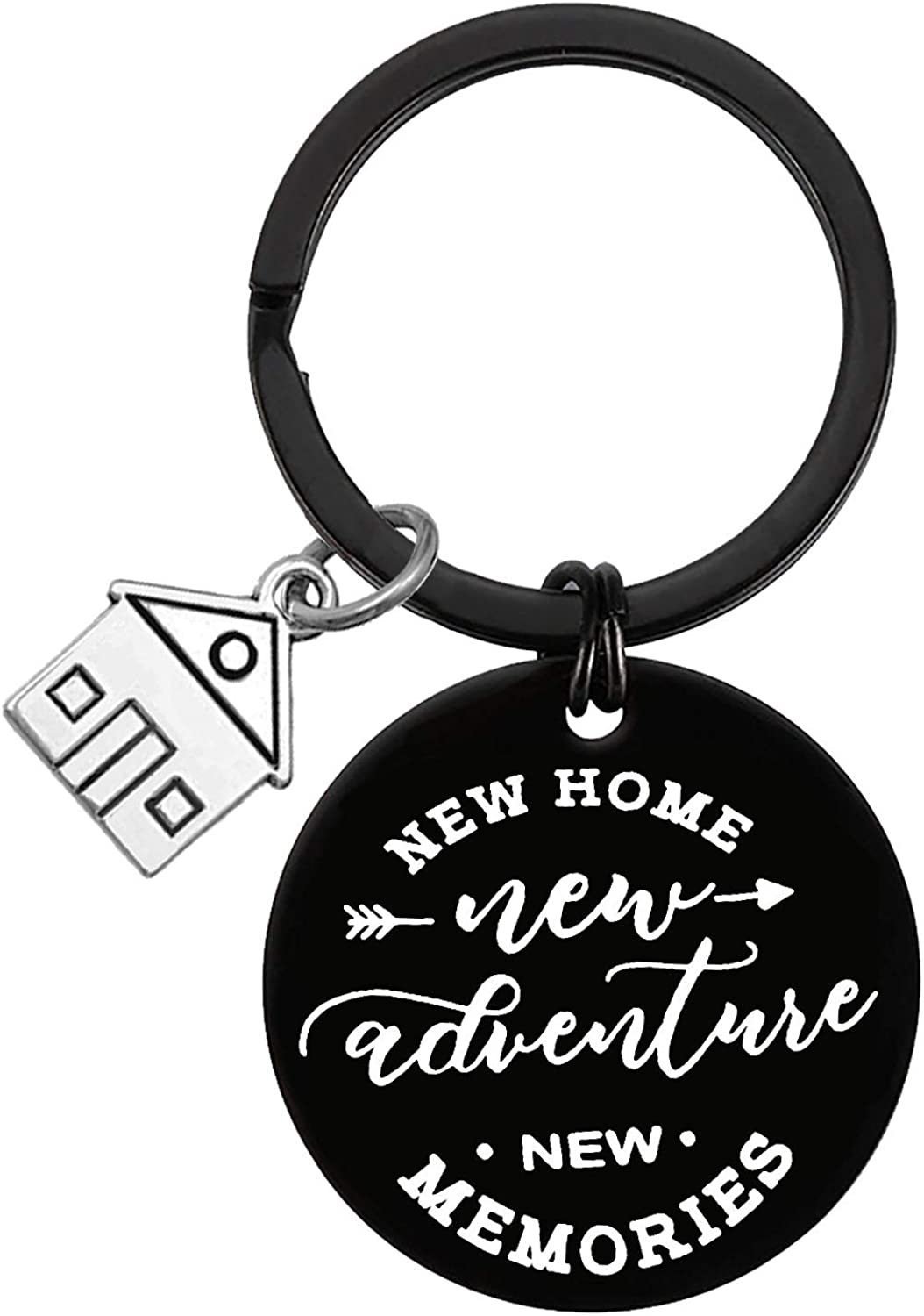 for New Home Keychain Keyring Jewelry 2020 Housewarming Gift First Home Gift Keychain New Memories Key Chain Realtor Closing Gifts New House Keyring Moving in Key Chain for New Home Owners Jewelry