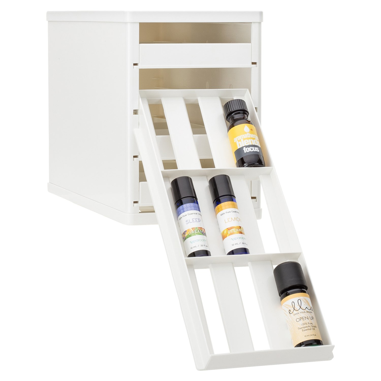 YouCopia Bottlestack Essential Oil Bottle Organizer, White 05361-01-WHT