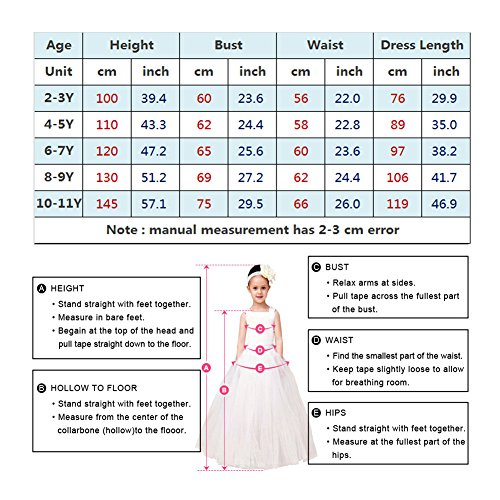 Cinderella Dress Princess Costume Party Dress 4-5y by CQDY (Image #5)