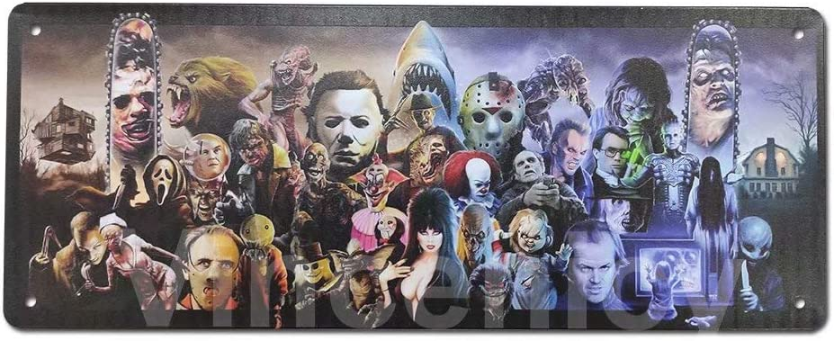 Vincenicy Halloween Horror Film Movie Collage Horror Villains, Horror Characters 16