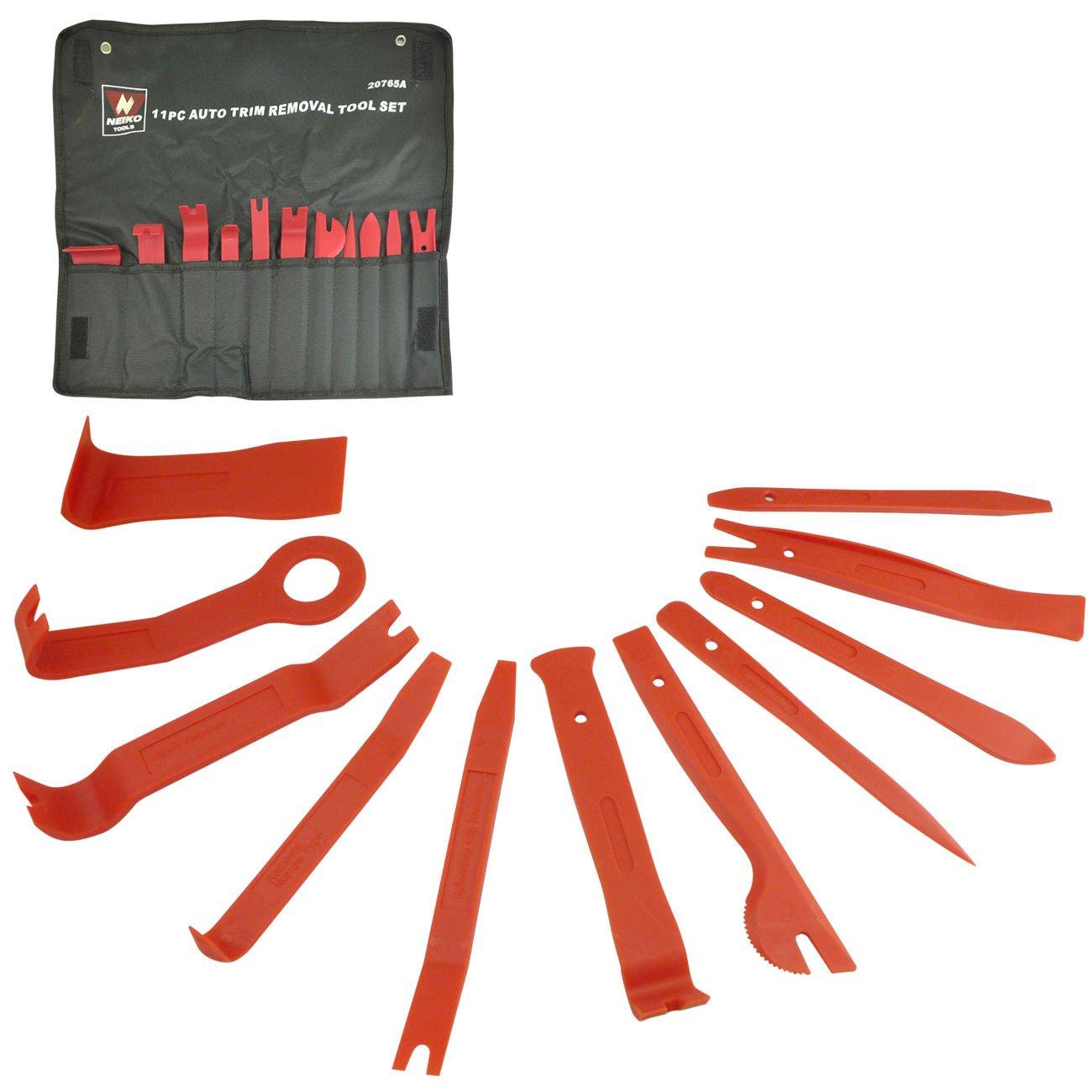 Trim Removal | 11pc Set Nylon Auto Installer Pry Scraper Fastener Panel Molding