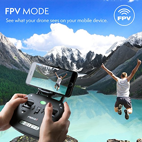 Force1 Drone with Camera Live Video and GPS Return Home Brushless Motors HD Drone 1080p Camera FPV MJX B2W Bugs 2 Quadcopter by Force1 (Image #6)