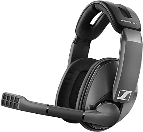 Amazon Com Sennheiser Gsp 370 Over Ear Wireless Gaming Headset Low Latency Bluetooth Noise Cancelling Mic Flip To Mute Audio Presets Pc Mac Windows And Ps4 Compatible Black Computers Accessories