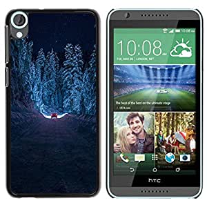 Paccase / SLIM PC / Aliminium Casa Carcasa Funda Case Cover - Drive Forest Winter Snow Road Free - HTC Desire 820