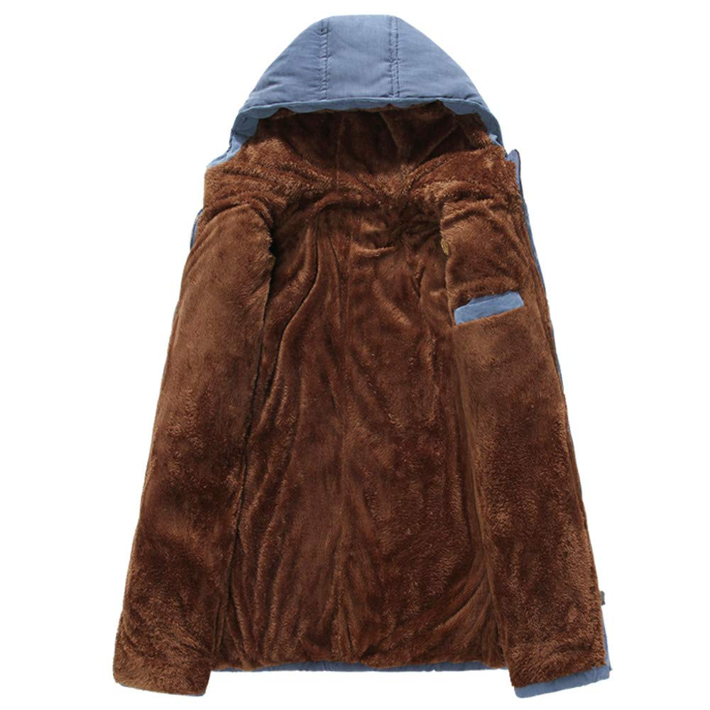 MOIKA Abbigliamento Uomo Uomini Inverno Tempo Libero Colore Puro Hoodie Medium Length Spessoreer Velvet Cotone Cappotto