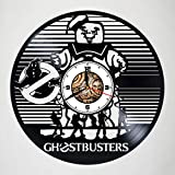 Ghostbusters - Handmade Vinyl Wall Clock - Vinyl Record Wall Clock - Get unique kids room wall decor - Gift ideas for boys, girls and kids - Unique Disney Art Design – Customize your clock !