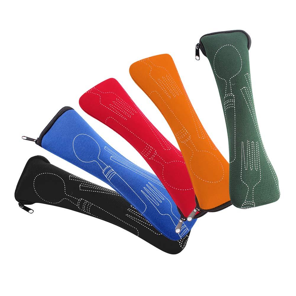 outgeek Geschirr Tasche Tragbar Besteck Tasche Besteck Tasche zum Draussen Camping