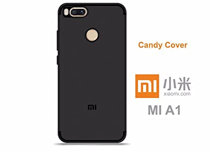 separation shoes 16722 e9313 ONLINE INDIA Xiaomi Mi A1 (ANDROID-1) CANDY Back Cover Case - Shock Proof  Soft TPU Back Case for Xiaomi Mi A1 (BLACK)