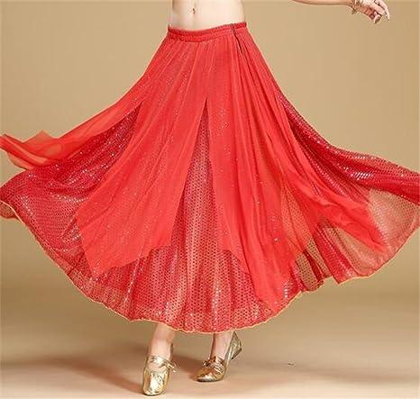 Disfraz de danza del vientre para mujer / falda larga brillante ...