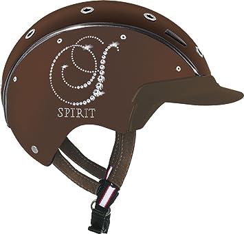 Casco de equitación Spirit Crystal -{6} Nobuck, marrón, S, 16.06