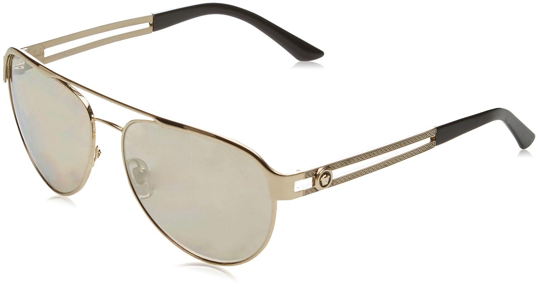 dfe8876cd57 Amazon.com  Versace Womens Sunglasses (VE2165) Gold Brown Metal -  Non-Polarized - 58mm  Versace  Shoes