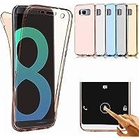 JAWSEU Coque Étui pour Samsung Galaxy S9 Plus Transparent Silicone Ultra Mince TPU 360 Degrés de Protection Cristal Clair Flexible Soft Gel Bumper Case