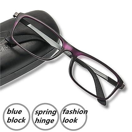 Ordenador gafas de lectura – 2017 nueva eyeyee luz azul bloqueo lector bisagra de resorte antideslumbrante