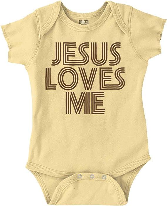 Amazon.com: Jesus Loves Me Christian Christ - Mono divertido ...