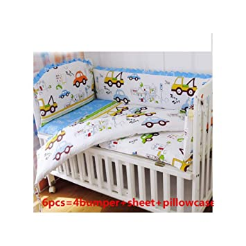 46a5311182f Image Unavailable. Image not available for. Color  6PCS Cars Cot Baby  Bedding Sets