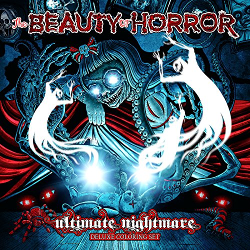 Halloween Activity Book Set - The Beauty of Horror: Ultimate Nightmare - Deluxe Coloring Set