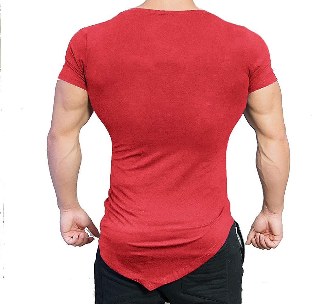 COOFANDY Mens Gym Workout T Shirt Short Sleeve Muscle Cut Bodybuilding Training Fitness Tee Tops