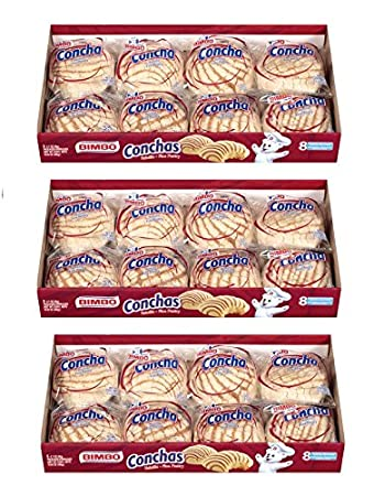 Bimbo Conchas Fine Pastry: 3 of 8 Packs (Total of 24 Packs) -