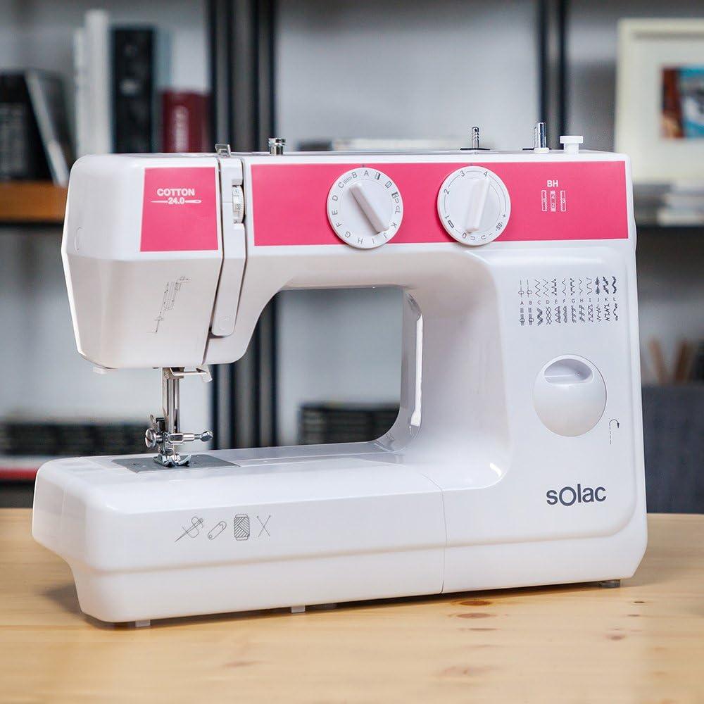 Solac SW8240 Cotton 24.0 Máquina de Coser Mecánica con 24 Puntadas ...