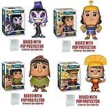 Pop: Disney Movie: The Emperor's New Groove - Yzma, Rronk, Pacha and Kuzco Vinyl Figure set of 4 w/ protector box