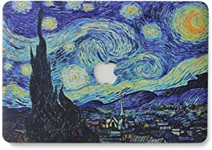 """Starry Night Laptop Shell Protective Hard Case for Apple MacBook Air 13.3"""" (A1466 / A1369) - Van Gogh Galaxy Starry Night"""