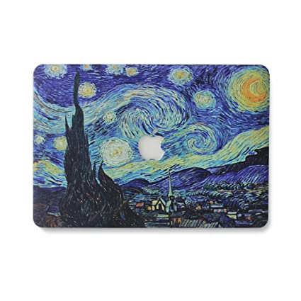 MacBook Pro 13 Case 2017 & 2016 Release A1706/A1708, AQYLQ Plastic Hard Case Shell for Newest MacBook Pro 13 inch - Van Gogh Galaxy Starry Night