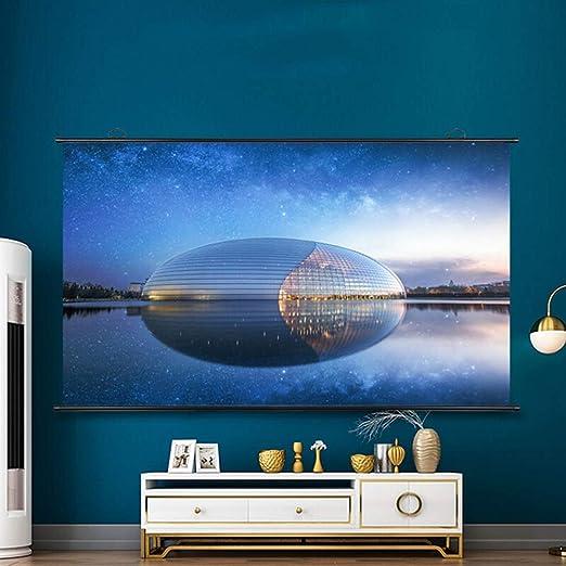 MICROSHE Pantalla de proyector portátil 84 Pulgadas de Pantalla ...