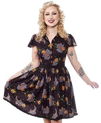 5231cabf03d Amazon.com: Sourpuss Feline Spooky Lydia Dress: Clothing