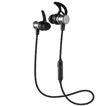 Auriculares inalámbricos,Bluetooth V4.1 con magnético,Auriculares estereofónicos de los deportes de