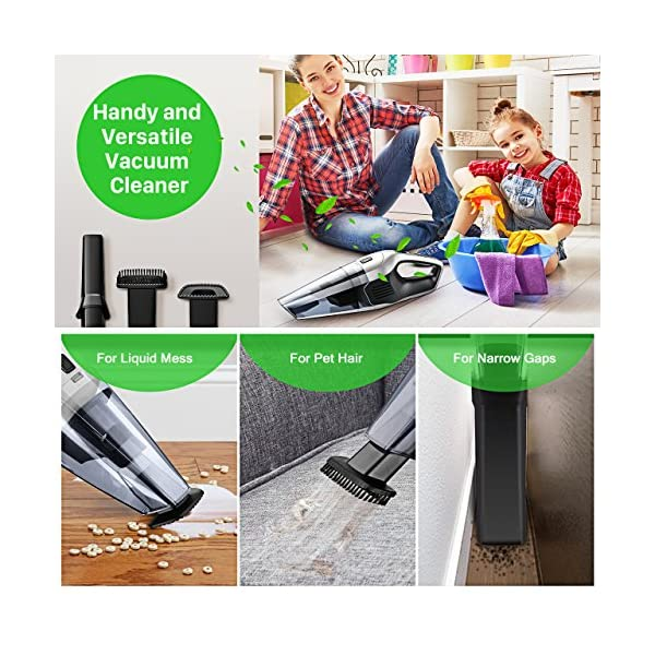 Homasy Cordless Handheld Vacuum Cleaner 6Kpa Cyclonic Suction Portable Powerful Vacuum Cordless Car Fast Charge Charging Base Wet Dry Vacuum For Pet Hair Cleaning DC 148V Lithium Battery