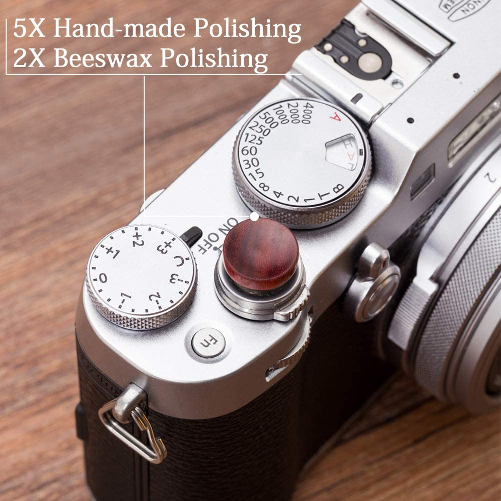 Goshyda 3 concave Universal Aluminum Alloy Camera shutters meticulous Workmanship Made of Copper Release Button Suitable for Most Cameras Universal