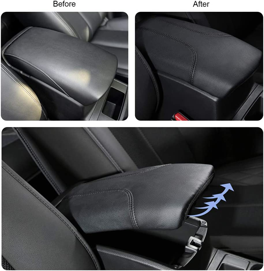 Center Console Arm Rest Protection Case PU Leather Interior Accessories Black Update LFOTPP Car Armrest Box Cover for Qashqai J11