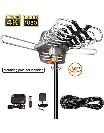 9736110d2caf Outdoor HDTV Digital Antenna -150 Miles Range w  360 Degree Rotation  Wireless Remote -