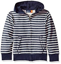 The Children\'s Place Boys\' Big Boys\' Full-Zip Athletic Hoodie, Blue, M (7/8)