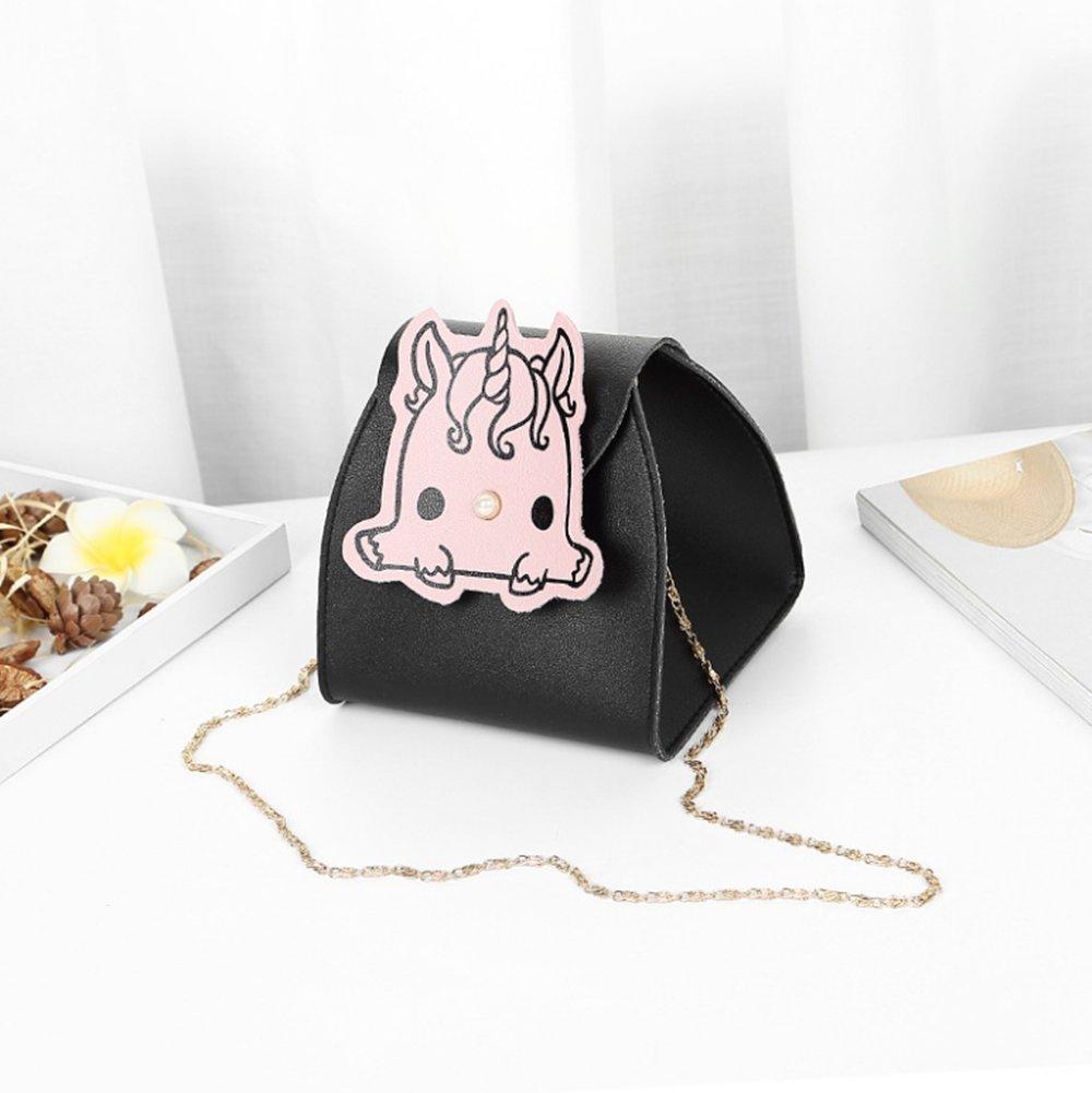 JL Bolsa De Hombro Bolsa De Cubo Bolsa De Dama Cadena De Dibujos Animados Mini Bolsa De Cubo Bolsa Bolsa De Mensajero Bolsa De Moda Salvaje Femenina,Black: ...