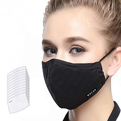 Washable Layer Activated Replaceable Carbon Mask Dust Filter 5