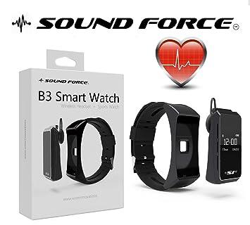 Reloj inteligente Bluetooth Hablar banda B3 de sonido fuerza – Fitness Rastreador de actividad para los