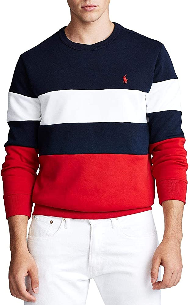 Polo Ralph Lauren Sudadera Colorblock Marino Small Azul: Amazon.es ...