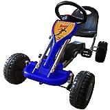 vidaXL Kart voiture à pédale gokart Bleu NEUF jouet#FE