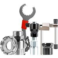 LOVIVER Conjunto de kits de reparação de roda de bicicleta ferramenta de remoção de cassete de bicicleta-chicote…